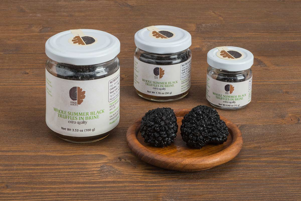 Summer black truffle preserved Angellozzi