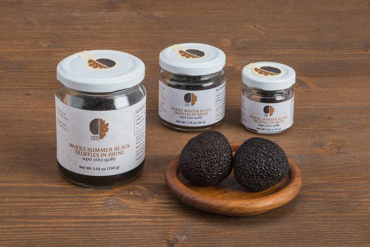 Winter black truffle in brine Angellozzi super extras