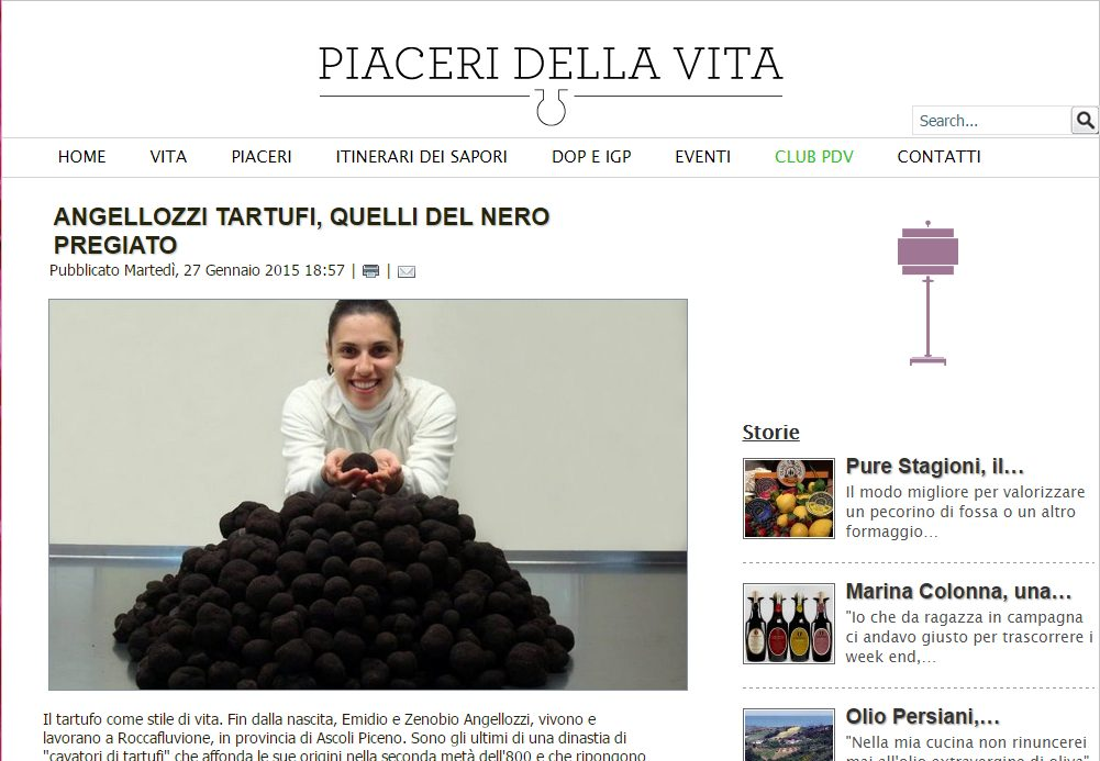 Angellozzi Tartufi and their Premium Winter Black Truffles