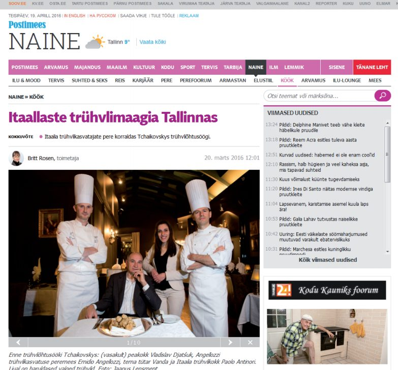 The enchantment of Italian truffles in Tallinn