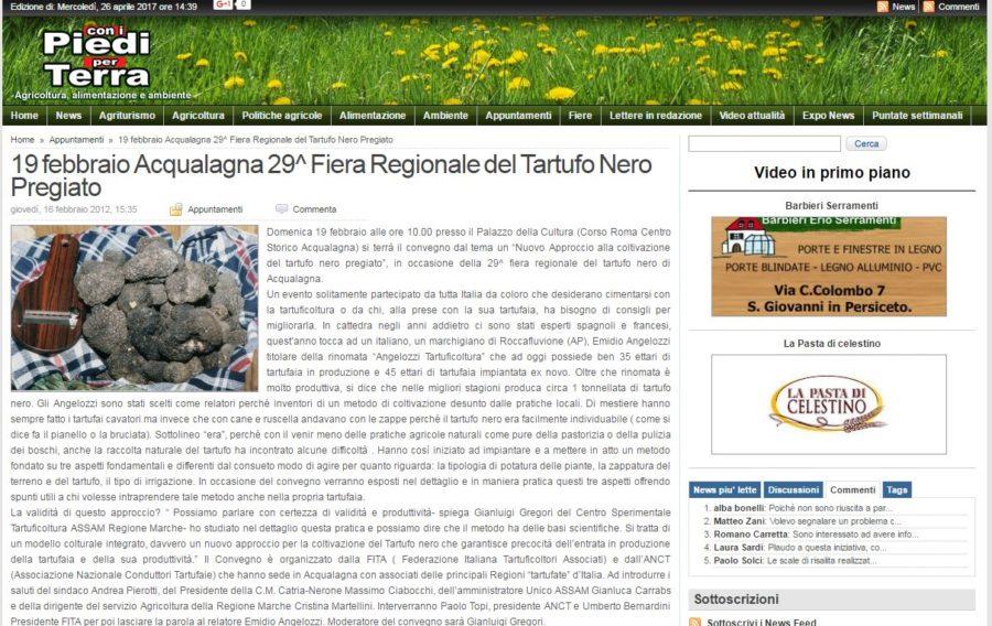 29^ Fiera Regionale del Tartufo Nero Pregiato